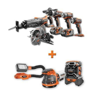 GEN5X 18-Volt Lithium-Ion Cordless Combo Kit (5-Piece) with Free (3-Piece) Bare Tool Kit