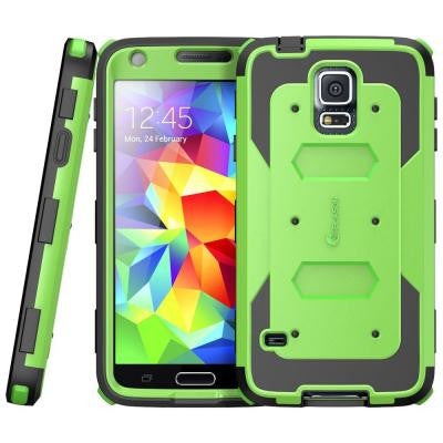 Galaxy S5 Armorbox Series Fullbody Case with Screen Protector - Green