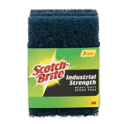 Heavy-Duty Industrial Strength Scour Pad (Case of 12)