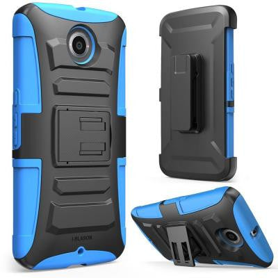 Prime Dual Layer Holster Case for Google Nexus 6 - Blue