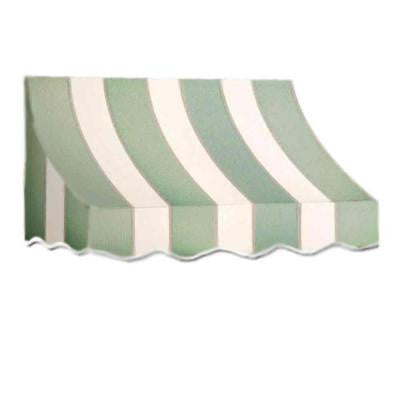 35 ft. Nantucket Window/Entry Awning (56 in. H x 48 in. D) in Sage/Linen/Cream Stripe