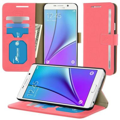 Prestige Wallet Case and Folio Flip Cover with Stand for Note 5