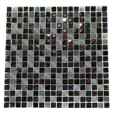 Seattle Skyline Blend Squares 12 in. x 12 in. x 8 mm Marble and Glass Mosaic Floor and Wall Tile