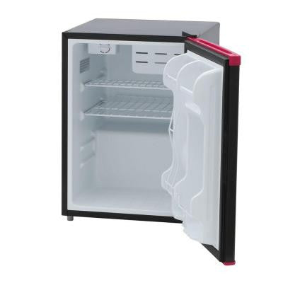 2.4 cu. ft. Mini Refrigerator in Black and Pink with Dry-Erase Board Door, Energy Star