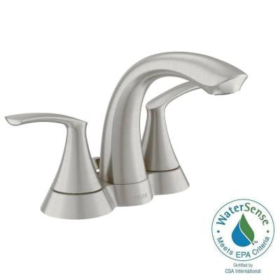 Darcy 4 in. Centerset 2-Handle Bathroom Faucet in Spot Resist Brushed Nickel