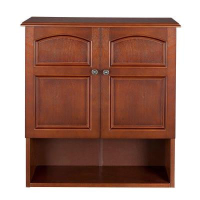 Martha 25 in. H x 22.3 in. W x 8 in. D Wall Cabinet in Mahogany Color