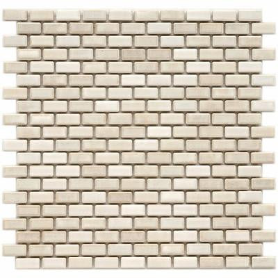 Rustica Subway Glacier 11-3/4 in. x 11-3/4 in. x 6 mm Porcelain Mosaic Floor and Wall Tile