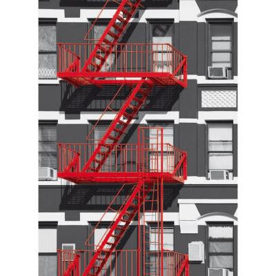 100 in. x 0.25 in. Fire Escape Wall Mural