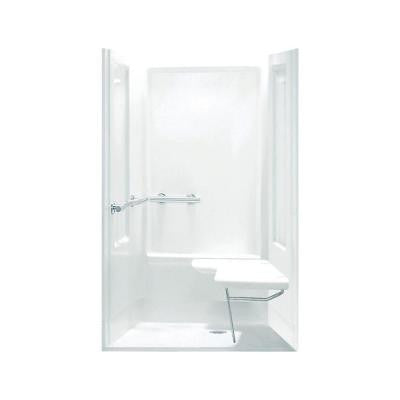 Transfer Shower 39.375 in. x 39.375 in. x 72 in. Shower Kit in White