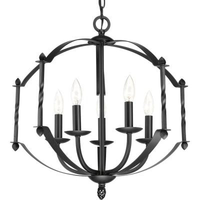 Greyson Collection 5-Light Black Chandelier
