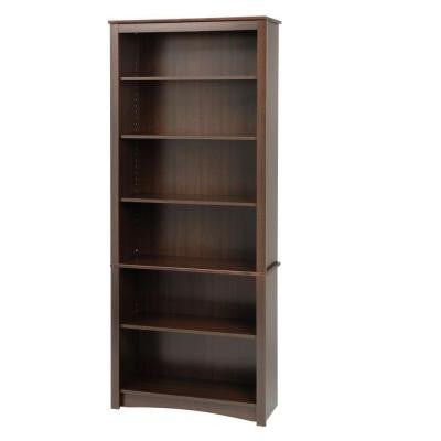 6-Shelf Bookcase in Espresso