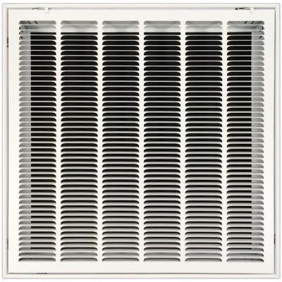 25 in. x 25 in. Return Air Vent Filter Grille with Fixed Blades, White