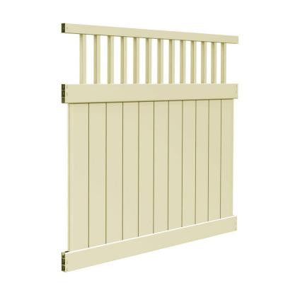 Missouri 6 ft. x 6 ft. Sand Vinyl Fence Kit (Actual Size: 70 in. x 67 in.)