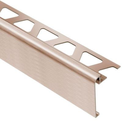 Rondec-Step Brushed Copper/Bronze Anodized Aluminum 3/8 in. x 8 ft. 2-1/2 in. Metal Tile Edging Trim