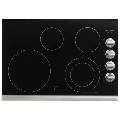 Gallery 30 in. Smooth Electric Cooktop in Stainless Steel with 4 Elements