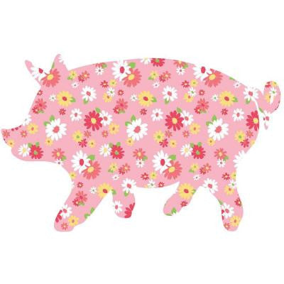 31 in. x 20 in. Scarlett the Pig Wall Decal