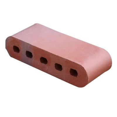 Double Bullnose Red Flashed 11.5 in. x 3.5 in. x 2.19 in. Cored Clay Brick