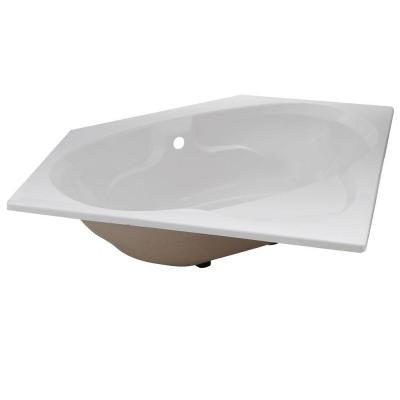 Classic 5 ft. Front Drain Drop-in Soaking Tub in White