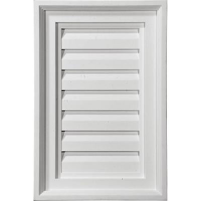 2 in. x 12 in. x 24 in. Decorative Vertical Gable Louver Vent