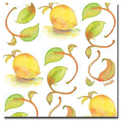14 in. x 14 in. Lemons Canvas Art
