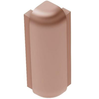 Rondec-Step Satin Copper/Bronze Anodized Aluminum 3/8 in. x 2-5/8 in. Metal 90 Degree Outside Corner