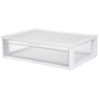 17.125 in. D x 24 in. W x 7 in. H 1-Compartment Plastic Large Modular Drawer
