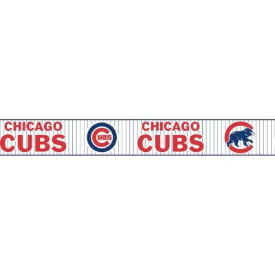 Boys Will Be Boys II 6 in. Chicago Cubs Pinstripe Border