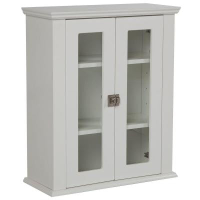 Lamport 22 in. W Surface-Mount Over John Storage Cabinet in White Mist