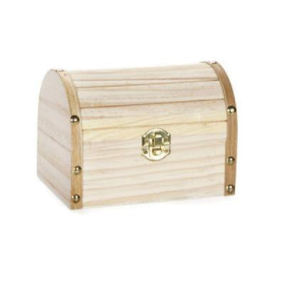 6 in. W x 4-1/8 in. H x 4-1/8 in. D Wide Unfinished Treasure Chest