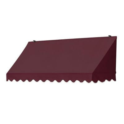 6 ft. Traditional Manually Retractable Awning (Projection 26.5 in.) in Burgundy