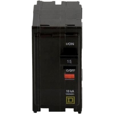 QO 15 Amp Two-Pole Circuit Breaker