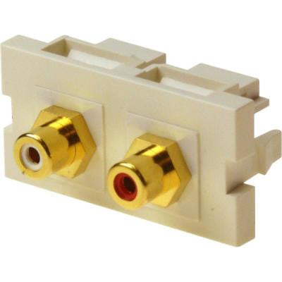 Unimedia Module with RCA x 2 (Red/White) F/F Feed-Through Coupler