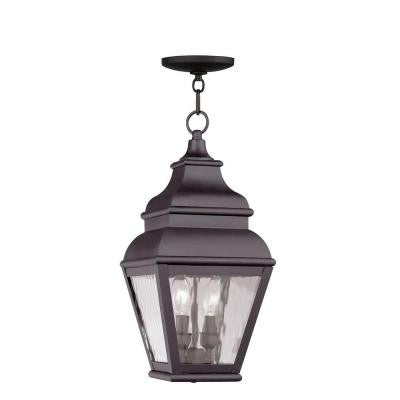 Providence 2-Light Hanging Outdoor Bronze Incandescent Lantern