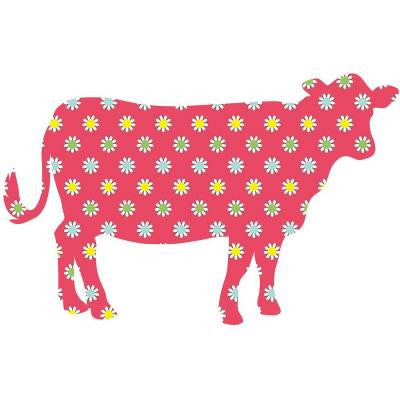 37 in. x 24 in. Dakota the Cow Wall Decal