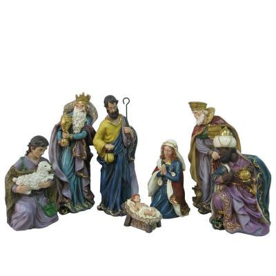 17 in. H Nativity Set (7-Piece)