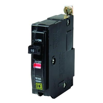 QO 15 Amp Single-Pole Bolt-On Circuit Breaker