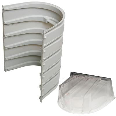 5600 5-Sections 092 Gray Egress Well with Polycarbonate Dome Cover Bundle