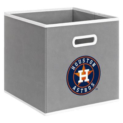 MLB STOREITS Houston Astros 10-1/2 in. x 10-1/2 in. x 11 in. Grey Fabric Storage Drawer