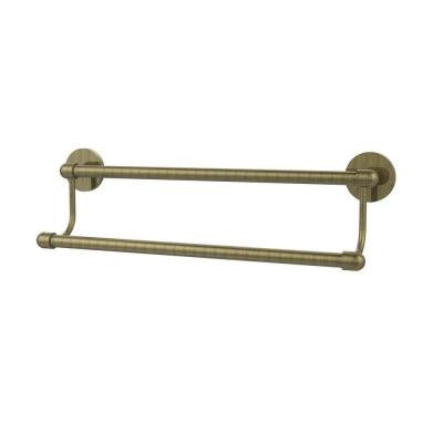 Tango Collection 24 in. Double Towel Bar in Antique Brass
