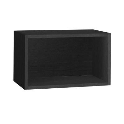 19.7 in. x 11.2 in. Black zBoard Wall Rectangle and Eco Decorative Shelf