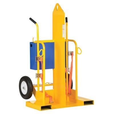 500 lb. Portable Welding Cylinder Torch Cart with Foam Filled Wheel