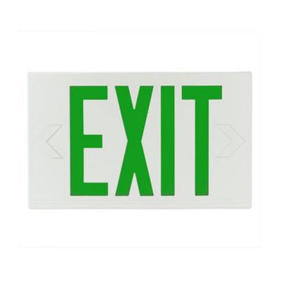 Nexis 1-Light Thermoplastic LED Universal Mount Green Emergency Exit Sign