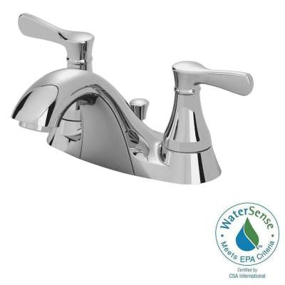 Alejandra 4 in. Centerset 2-Handle Low Arc Bathroom Faucet in Polished Chrome