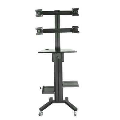 Mobile TV Stand for Four Screen with PC holder