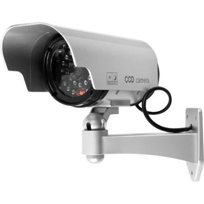 Indoor/Outdoor Security Camera Decoy with Blinking LED and Adjustable Mount