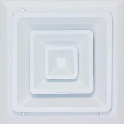 12 in. x 12 in. Ceiling Register, White with Fixed Cone Diffuser