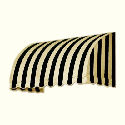 3 ft. Savannah Window/Entry Awning (44 in. H x 36 in. D) in Black/Tan Stripe