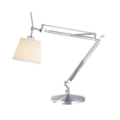 33 in. Satin Steel Architect Lamp