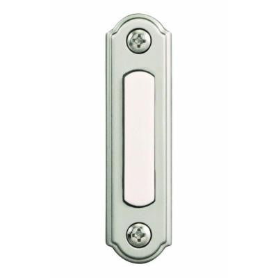 Wired Lighted Door Bell Push Button - Brushed Nickel