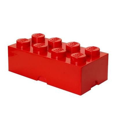 Storage Brick 8 - 9.84 in. D x 19.76 in. W x 7.12 in. H Stackable Polypropylene in Bright Red